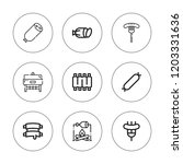 pork icon set. collection of 9... | Shutterstock .eps vector #1203331636