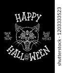 happy halloween is a vector...   Shutterstock .eps vector #1203333523