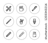 graphite icon set. collection... | Shutterstock .eps vector #1203343216