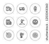 free icon set. collection of 9... | Shutterstock .eps vector #1203343360