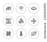 cord icon set. collection of 9... | Shutterstock .eps vector #1203343393