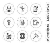 barrel icon set. collection of...   Shutterstock .eps vector #1203343426