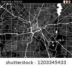 simple map of dallas  texas ... | Shutterstock .eps vector #1203345433