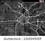 simple map of los angeles ... | Shutterstock .eps vector #1203345439