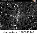 simple map of atlanta  georgia  ... | Shutterstock .eps vector #1203345466
