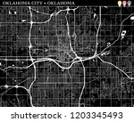 simple map of oklahoma city ...   Shutterstock .eps vector #1203345493