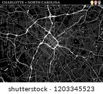 simple map of charlotte  nc ...   Shutterstock .eps vector #1203345523