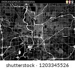 simple map of indianapolis ...   Shutterstock .eps vector #1203345526
