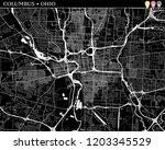 simple map of columbus  ohio ...   Shutterstock .eps vector #1203345529