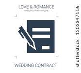 wedding contract icon. high... | Shutterstock .eps vector #1203347116