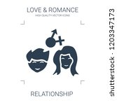 relationship icon. high quality ... | Shutterstock .eps vector #1203347173