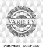 variety grey emblem. retro with ... | Shutterstock .eps vector #1203347839