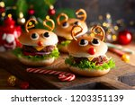 christmas party idea  kids... | Shutterstock . vector #1203351139