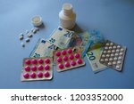 expensive pills and medicaments ... | Shutterstock . vector #1203352000