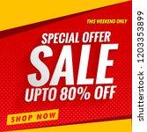 sale banner template red | Shutterstock .eps vector #1203353899