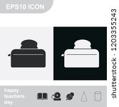 toaster flat black and white... | Shutterstock .eps vector #1203355243