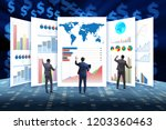 concept of business charts and... | Shutterstock . vector #1203360463