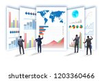 concept of business charts and... | Shutterstock . vector #1203360466