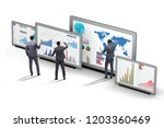 concept of business charts and... | Shutterstock . vector #1203360469