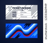 ticket card coupon and voucher... | Shutterstock .eps vector #1203360949
