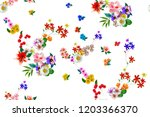 flowers are full of romance the ... | Shutterstock . vector #1203366370