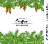 fir branches. template for... | Shutterstock .eps vector #1203371260
