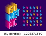 isometric 3d font design  three ... | Shutterstock .eps vector #1203371560