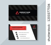 creative business card with red ... | Shutterstock .eps vector #1203377536