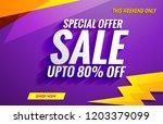sale banner template | Shutterstock .eps vector #1203379099