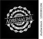 adrenaline chalkboard emblem | Shutterstock .eps vector #1203381106