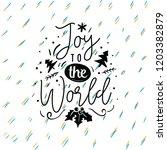 merry christmas. typography.... | Shutterstock .eps vector #1203382879