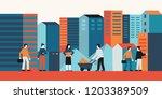 vector illustration in flat... | Shutterstock .eps vector #1203389509