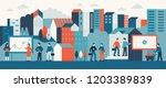vector illustration in flat... | Shutterstock .eps vector #1203389839