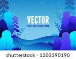 vector illustration in trendy... | Shutterstock .eps vector #1203390190