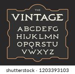 vector set of vintage letters.... | Shutterstock .eps vector #1203393103