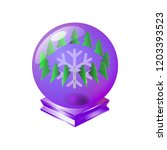 merry christmas magical crystal ... | Shutterstock .eps vector #1203393523
