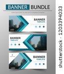 blue triangle banner bundle... | Shutterstock .eps vector #1203394033