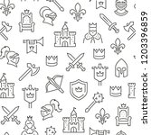 seamless pattern with medieval... | Shutterstock .eps vector #1203396859
