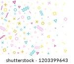 memphis style geometric... | Shutterstock .eps vector #1203399643