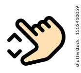 pinch out gesture | Shutterstock .eps vector #1203410059