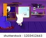 halloween  boo  kids  spooky...   Shutterstock .eps vector #1203412663