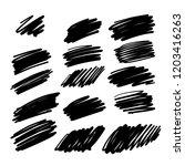 vector set of grunge hatching...   Shutterstock .eps vector #1203416263