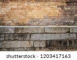 Close Up On Ancient Stone Brick ...