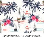 beautiful tropical vector... | Shutterstock .eps vector #1203419536