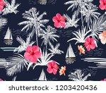 beautiful tropical vector... | Shutterstock .eps vector #1203420436