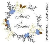 floral poster  invite. vector...   Shutterstock .eps vector #1203425530