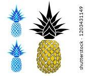 modern look pineapple... | Shutterstock .eps vector #1203431149