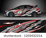 racing car wrap design vector.... | Shutterstock .eps vector #1203432316