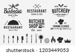 6 vintage logo templates and 14 ... | Shutterstock .eps vector #1203449053