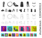 women clothing flat icons in... | Shutterstock .eps vector #1203450313